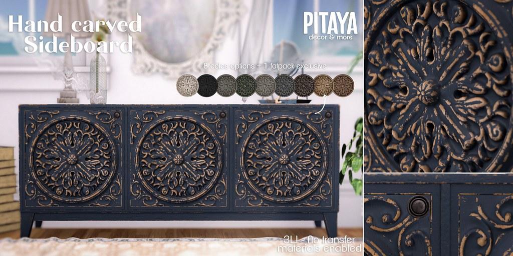 Pitaya – Handcarved Sideboard @ Shiny Shabby