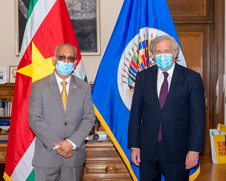 2021 APR 21 Secretary General Meets with Foreign Minister of Suriname