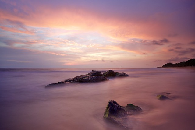 Sunset With Long Exposure