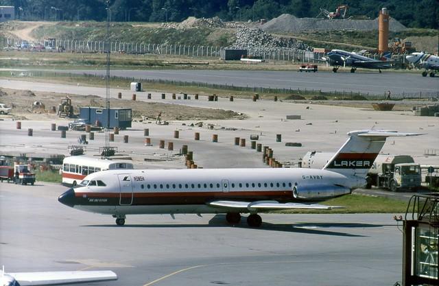 G-AVBY Laker Airways BAC 1-11 320AZ seen after push-back at London Gatwick