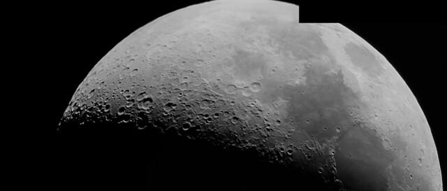 Mosaico de la Luna. Casi completo el Cuarto Creciente (Nikon D3300 Luna4_3)