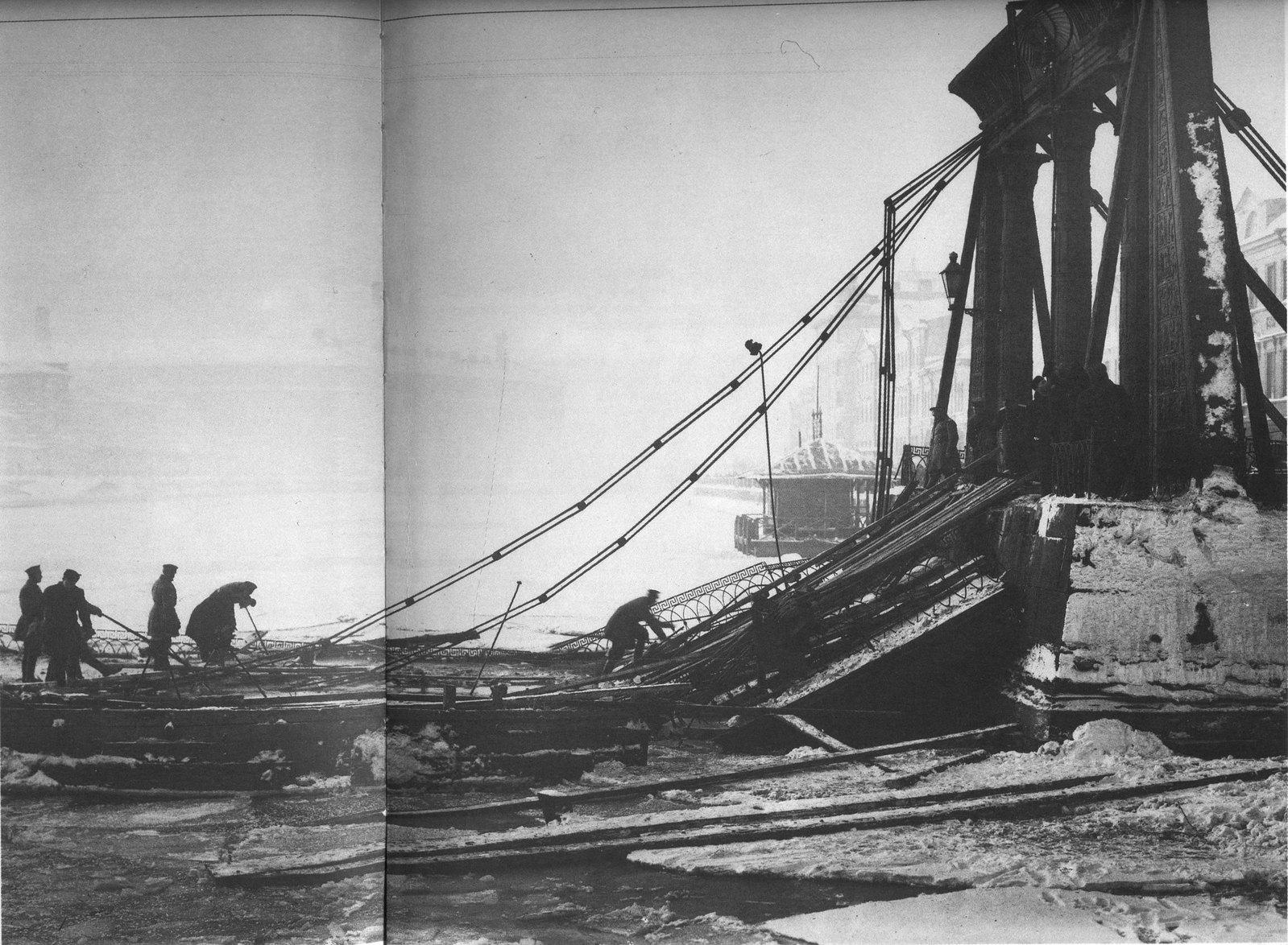 1905. Разборка конструкций рухнувшего Египетского моста