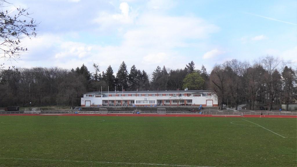 1928/29 Berlin Sporthaus am Stadion Rehberge von Friedrich Hellwig im Volkspark Rehberge Im Volkspark Rehberge in 13351 Wedding