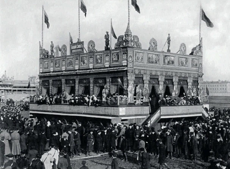1890-е. Масленичное гуляние на Семёновском плацу