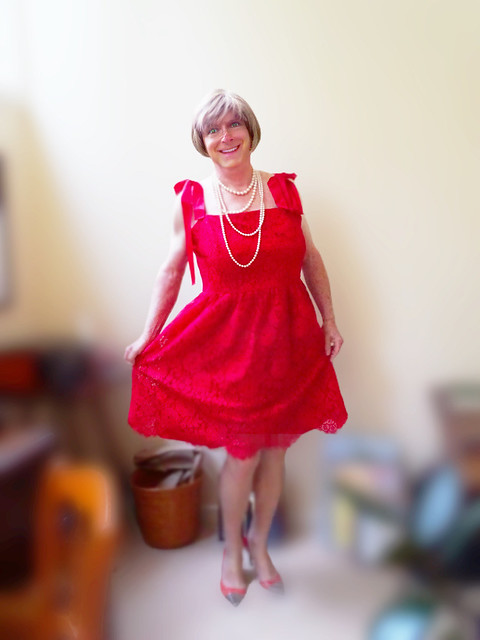 Another red outfit from 2020, pre-COVID