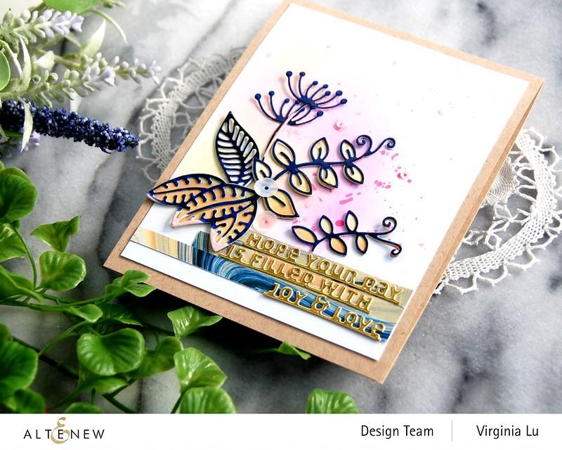 Altenew-Whimsical Garden Die-Slim Sentiments Die-Poured Acrylic Paper Pad-002
