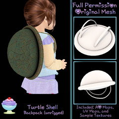 [Sherbert] Turtle Shell Backpack Ad