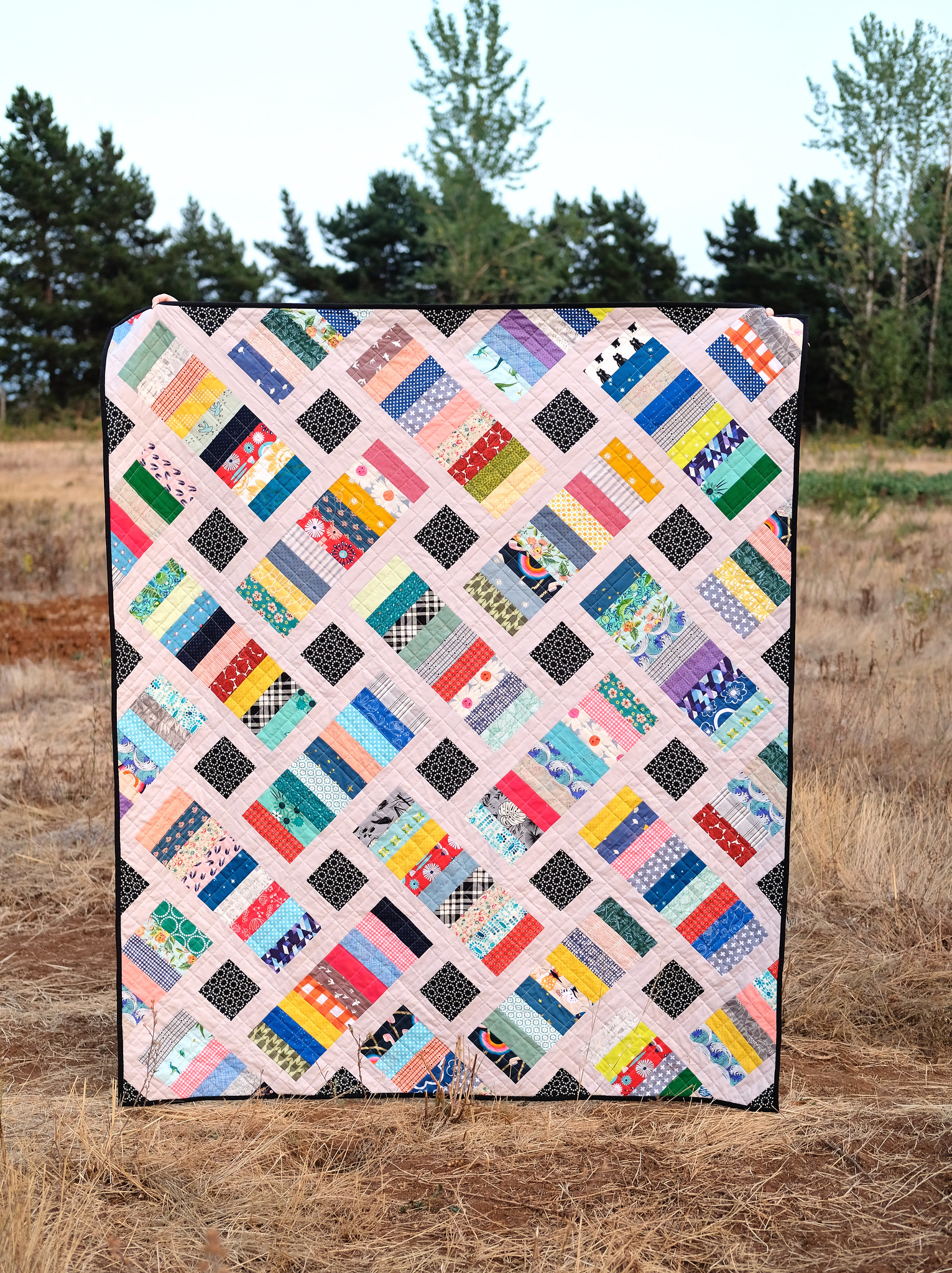 A Scrappy Iris Quilt - Kitchen Table Quilting