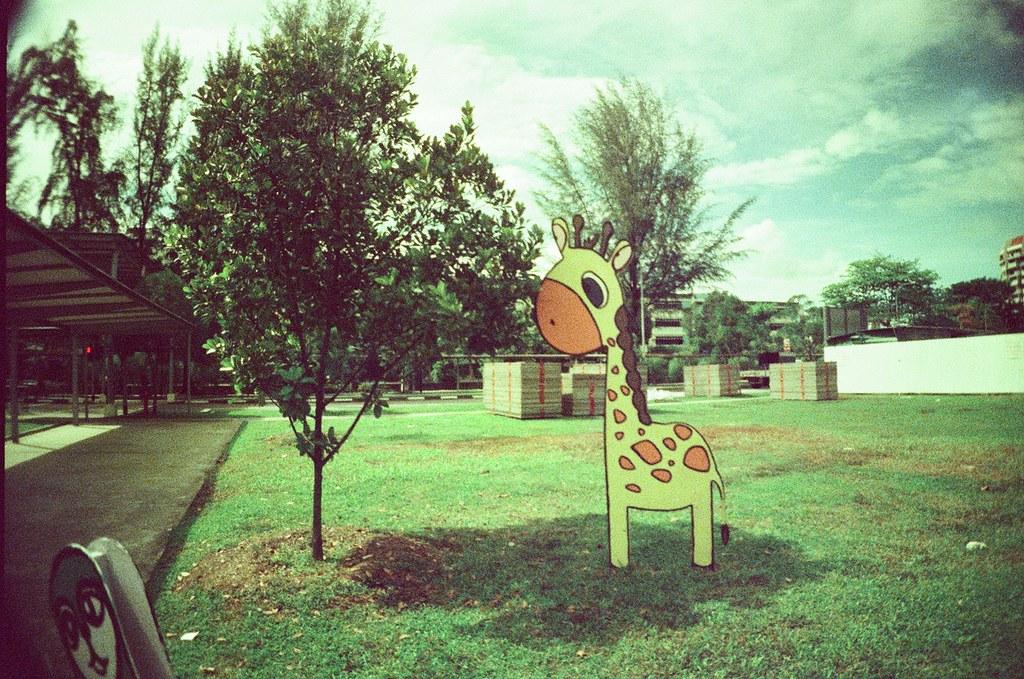 fake giraffe