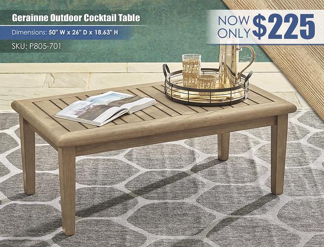 Gerainne Grayish Brown Cocktail Table_P805-701