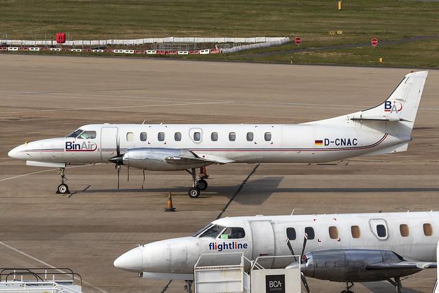 BinAir Fairchild Swearingen Metroliner D-CNAC at Birmingham Airport BHX/EGBB