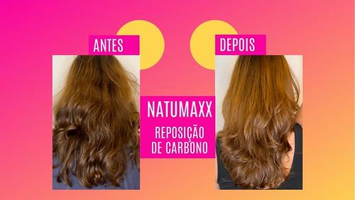 Antes e Depois - Linha natumaxx Reposição de Carbono
