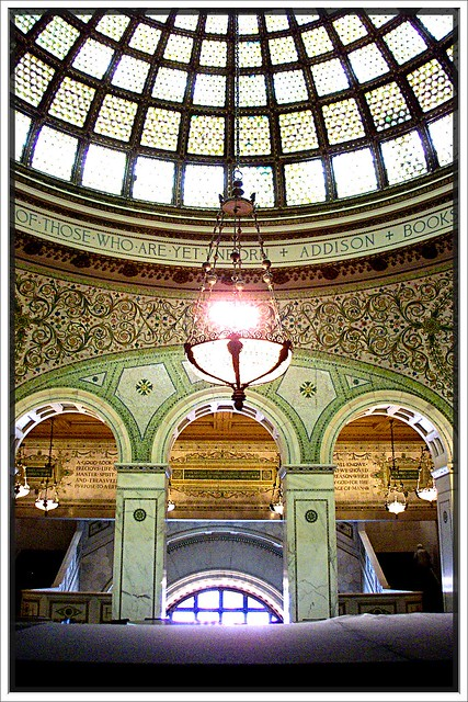 Chicago Old Public Library ~ Chicago II ~ Stain Glass Skylight ~ 1893