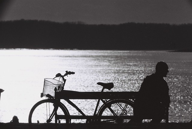 silhouette with bicycle  ZEN 2
