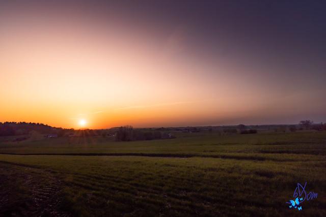 2021 - Coucher de soleil à Graty
