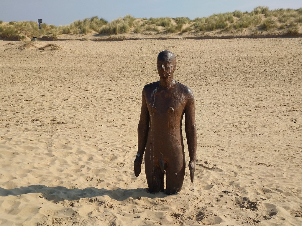 Antony Gormley, Another Place statue, Crosby Beach, Liverpool