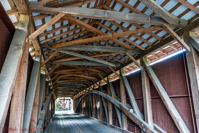Inside Amish Covered Bridge