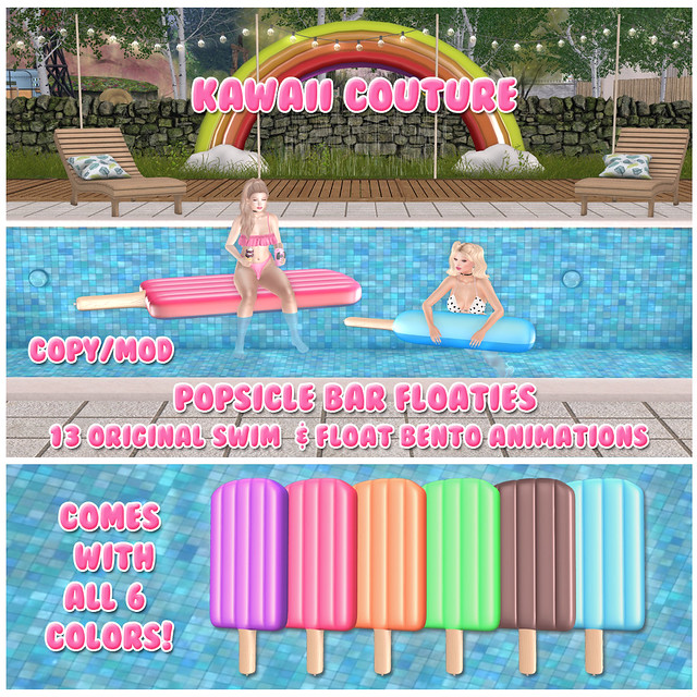 Kawaii Couture - Popsicle Bar Float Set Ad