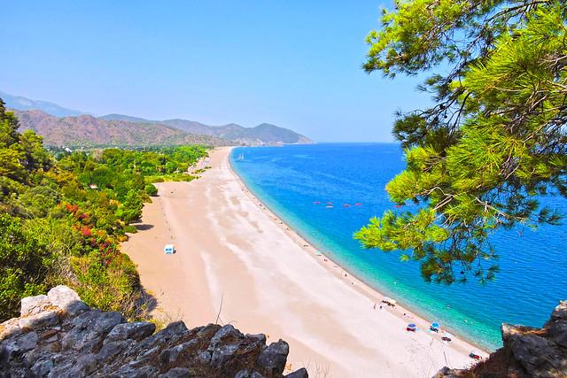 Olimpos - Çıralı Sahiline Ceneviz Kalesi'nden Bakış (HDR)