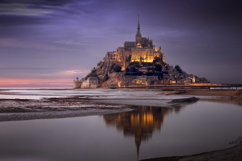 Last Light at Le Mont-Saint-Michel