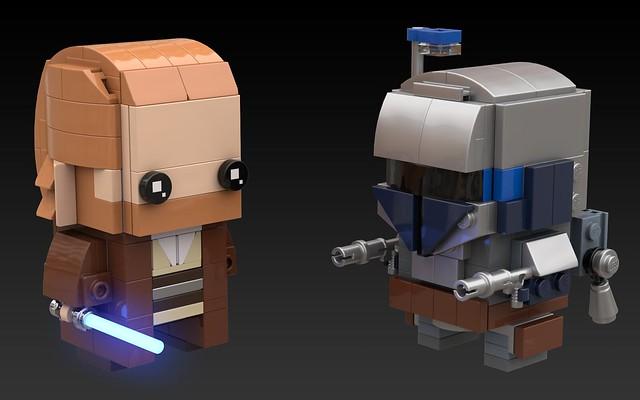 BrickHeadz - Obi-Wan v Jango