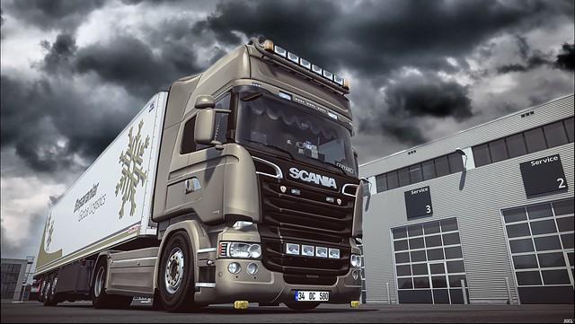 Scania R580 Streamline V8 - Schmitz Cargobull