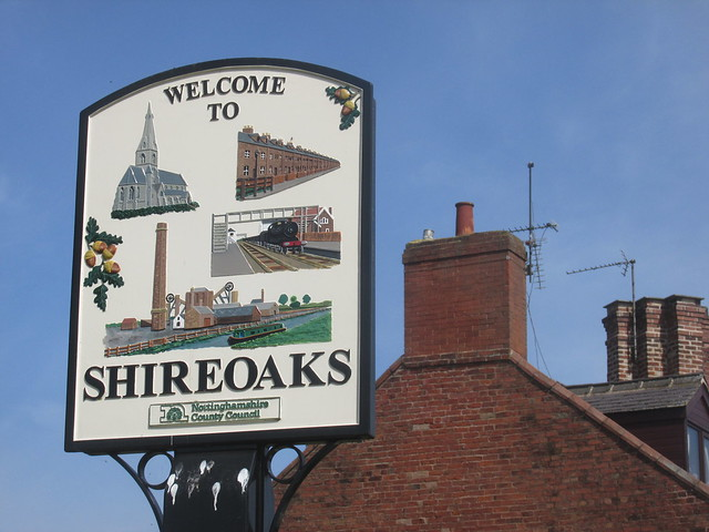 Shireoaks....its on the outskirts of Worksop.