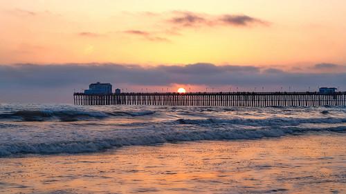 landscape seascape sunset pier oceanside california westcoast nikon pacificcoast ocean sea pacific waves fishing hightide tide goldenhour ngc sun