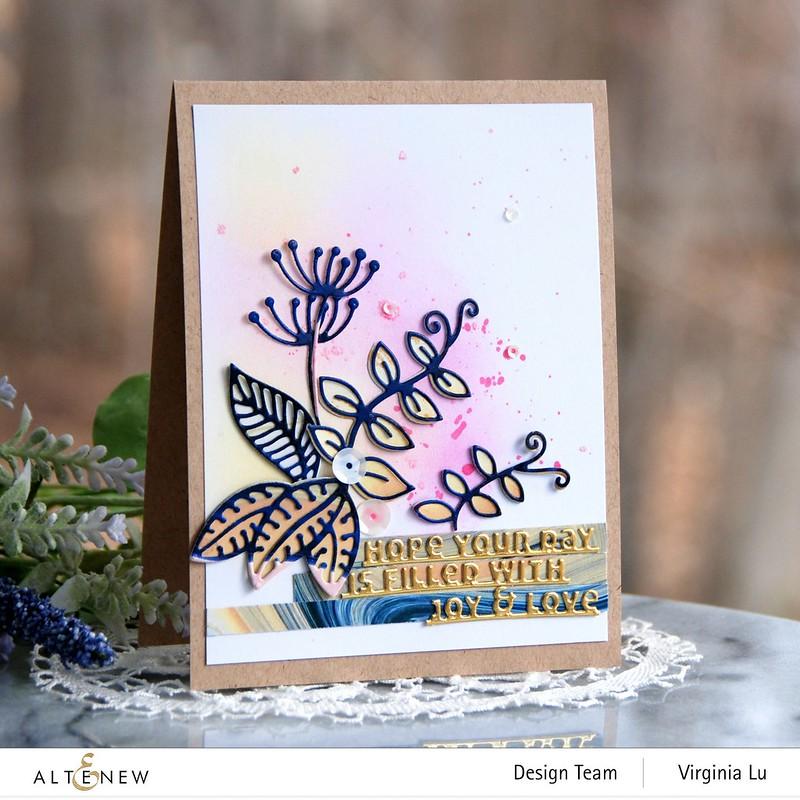 Altenew-Whimsical Garden Die-Slim Sentiments Die-Poured Acrylic Paper Pad-001