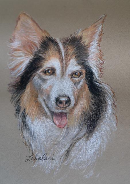 Pastel Portrait of Lohelani by Janice Gail