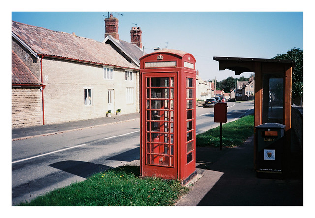 FILM - phone box and bus stop