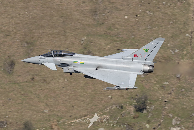 TYPHOON39 RAF Eurofighter Typhoon FGR4 ZJ935 in IX(B) Squadron Markings Low Level in the English Lake District