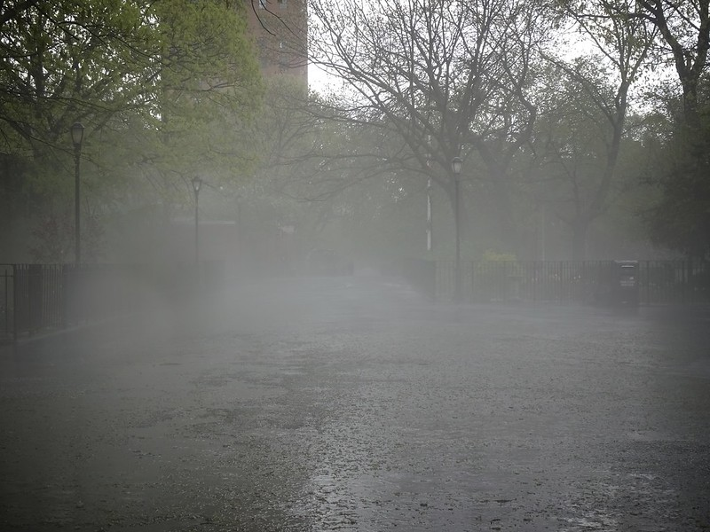 Spooky mist in Tompkins Square