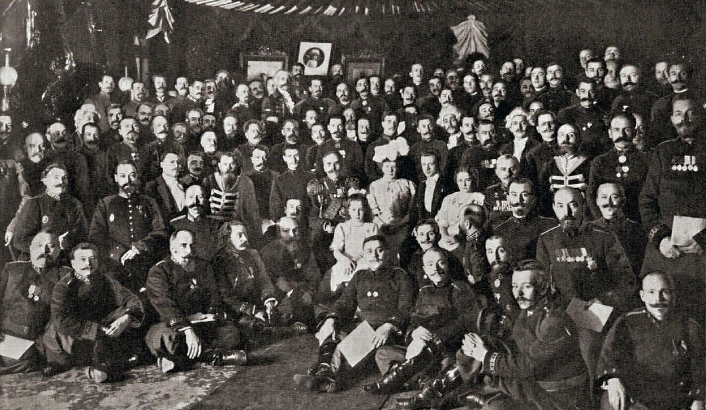 1907. Группа придворного оркестра по случаю 25-летнего юбилея. 21 октября