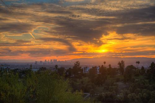 losangeles landscape sunset sun california elysianpark elysian park city cityscape