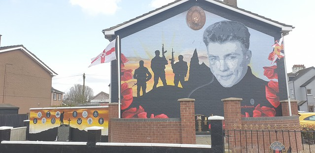 Loyalist mural in sydenham... Out and about in East Belfast