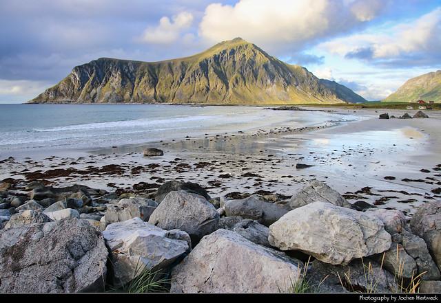 Skagsanden Beach, Lofoten, Norway