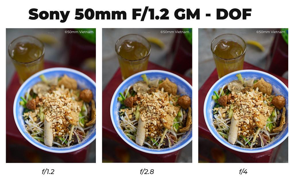 Sony FE 50mm f/1.2 DOF Scale