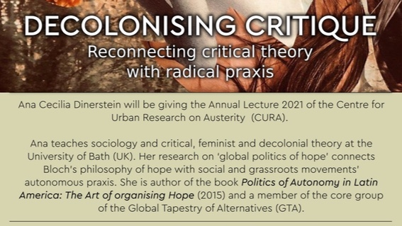 Text regarding Ana's annual lecture on Decolonising Critique