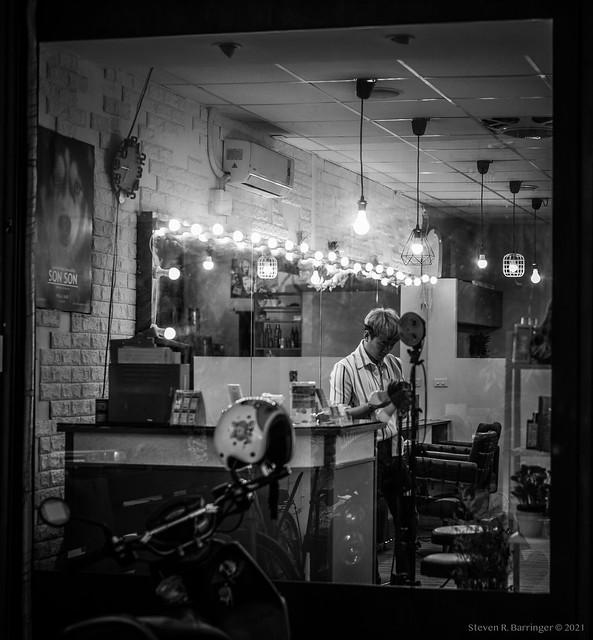 inside the hair salon