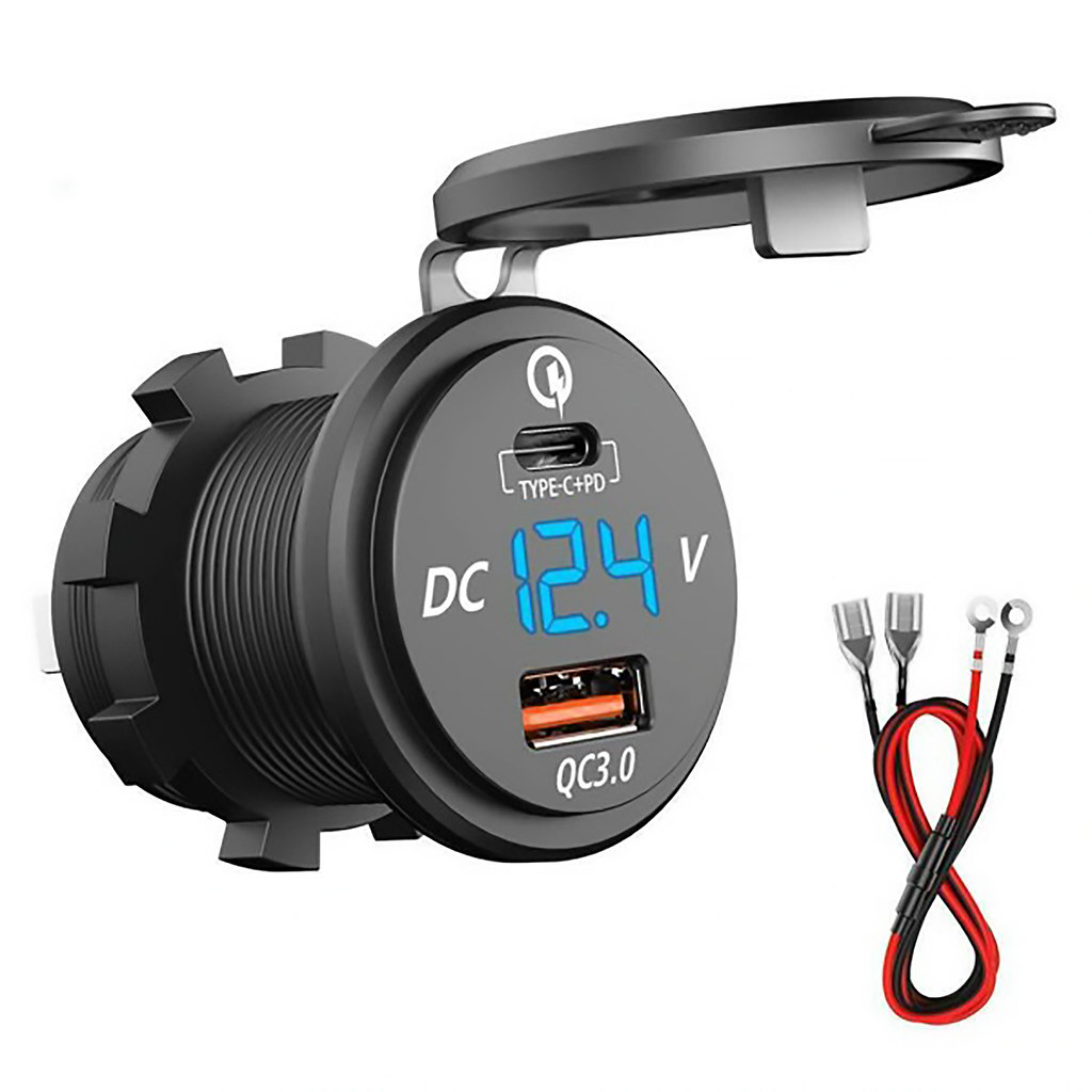 Dual charge port