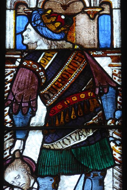Emperor Nero (carrying St Paul's head?)