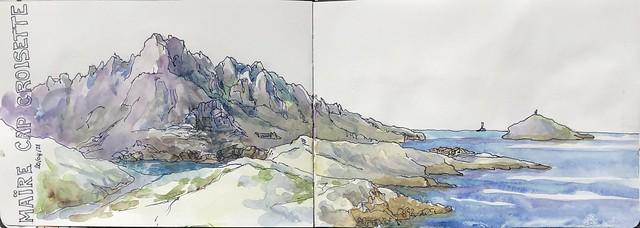 MARSEILLE Cap Croisette et l'île Maïre
