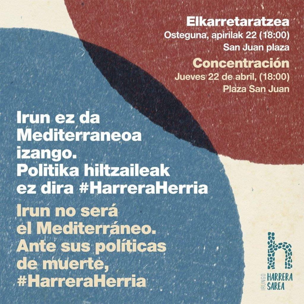 Concentracion Inrungo Harrera Sarea 22 abril 2021