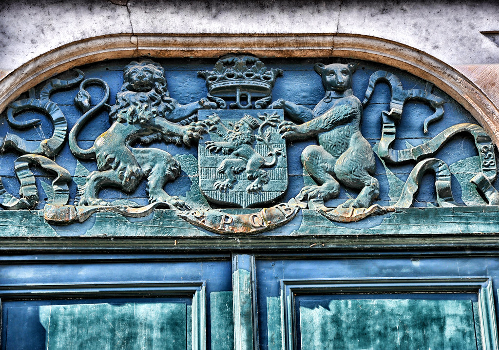 Heraldry above the door