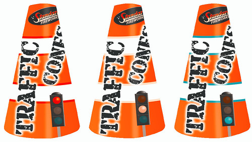 Traffic Cones Fountains by Standard Fireworks