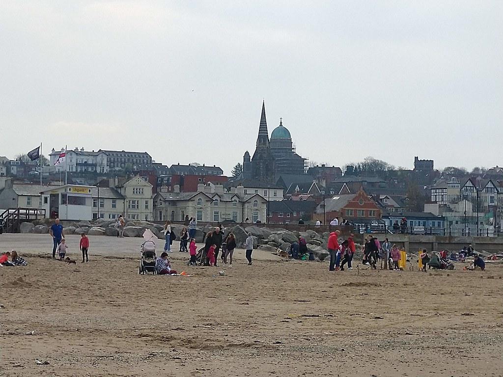 The beach at New Brighton, Liverpool