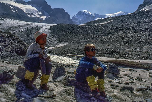 Sul ghiacciaio (parecchi anni fa)