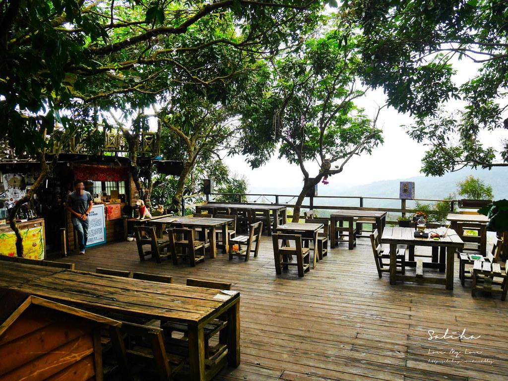 台南東山一日遊咖啡廳下午茶推薦大鋤花間咖啡生態農場景觀餐廳風景優美 (3)
