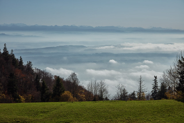 Weissentein mountain – Mist, clouds and the Bernese Alps